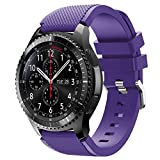 Vozehui Correa compatible con Samsung Gear S3 Frontier/Gear S3 Classic/Galaxy Watch 46mm/huami amazfit 2/huawei watch GT/huawei watch 2 pro Smartwatch, 22mm Soft Silicone Sport Wrist Band
