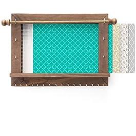 Excello Global Products Rustique Mural Organiseur de Bijoux avec Bracelet Support pour Canne à pêche, Crochets et…