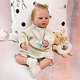 Terabithia 21pulgadas 52CM Tan Realmente Pintura Detallada a Mano de Genesis Heat Set Paint Reborn Baby Dolls Look Real Soft Gentle Touch Silicone Vinyl Newborn Doll Collectible