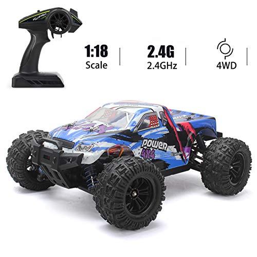 Goolsky KYAMRC KY-2819A 1:18 RC Auto All Terrain 4WD Offroad-Fernbedienungs-Raupenwagen 2,4 GHz 35 km / h Hochgeschwindigkeits-Rennfahrzeug Geschenk für Erwachsene Kinder Jungen