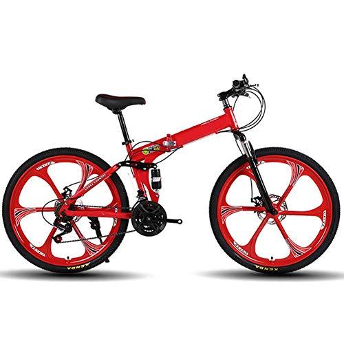 CENPEN Deportes al aire libre de bicicletas de montaña de 21 velocidades de serie de bicicletas de montaña for hombre de 26 pulgadas de bicicletas de acero al carbono con, bicicletas de doble freno de