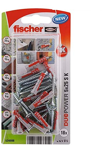 Fischer 534996 Duopower Blister 5 x 25 S K