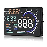 Best Heads Up Displays - Arestech 5.5 inches A8 OBD2 Windshield HUD Head Review