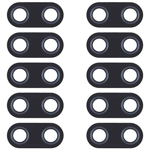 DINGJIA Lente de cámara Trasera de 10 PC Superiores para ASUS Zenfone 5 ZE620KL / ZS620KL (Color : Black)