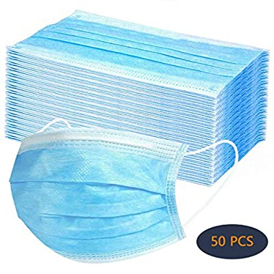 50 PCS Disposable Filter 3-ply Face Protective Cover Personal Protection Dust-Proof Anti Spittle Eye