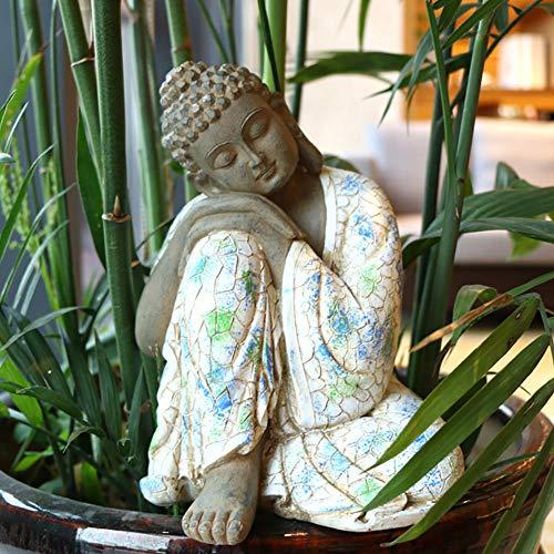 XM&XN Buddha Und Pagode Fairy Garden Zubehör, Fairy Garden Figuren, Miniatur Blumentöpfe Ornament, Bonsai Craft, Mikrolandschaft, DIY Dekor Set-Mittlerer Schlafender Buddha