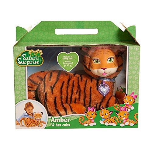 Just Play Safari Surprise Amber Tiger Plush