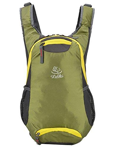 Mochila Casual Ligero Viajar Plegable Durable Apilable para Mujer Hombres Bolso Que viaja Senderismo Trekking Vert