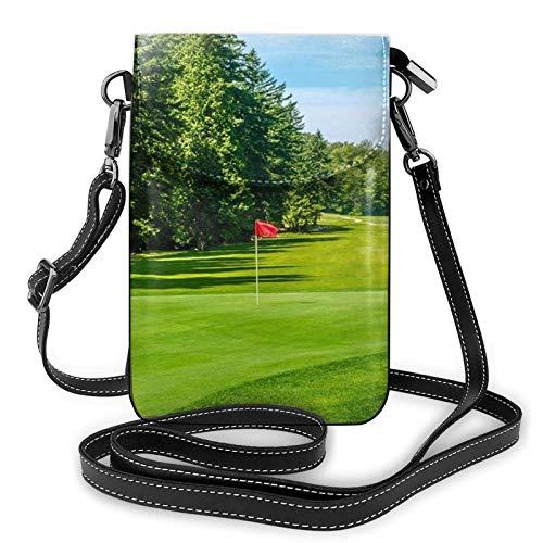 Handy Geldbörse Crossbody Golfplatz Rasen Frauen Pu Leder Mode Handtasche mit verstellbarem Riemen