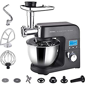 Aifeel Kitchen Mixers – Electric Multi-Functional Stand Mixer – with 5.0 Litre Food-Grade Bowl, Mixing Accessories, Food Grinder, and Blender
