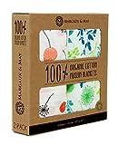 Organic Muslin Swaddle Blanket by Margaux & May - Dandelion & Meadow -...