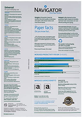 Navigator Universal - Papel multiusos para impresora 500 hojas A4 80gr : geben Usted Su Modelo uno, UM sicherzustellen, DASS Dieser Artículo Apto GRAMAJE: 80G / qm Color: blanco