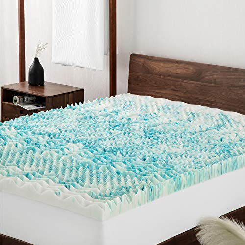 Bedsure Topper Singolo Memory Foam Correttore Materasso 90x190 Con Altezza 7cm Materassi Sottili Ortopedico A 7 Zone Benessere Vita Salute