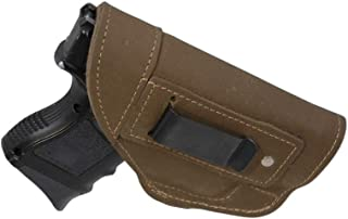 Barsony New Olive Drab Leather IWB Holster for Compact, Sub Compact 9mm 40 45
