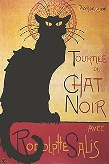 Buyartforless The Black Cat - Theophile Steinlen Tournee du Chat Noir Avec Rodolphe Salis 36x24 Art Print Poster Chat Noir Vintage Advertising