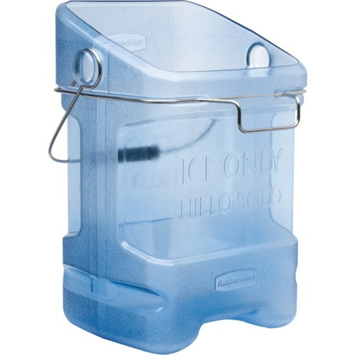 Rubbermaid 9F53 5.5 gallon Capacity, 10.5' Length x 13.3' Width x 17.8' Height, Transparent Blue Color, Safe Ice Tote