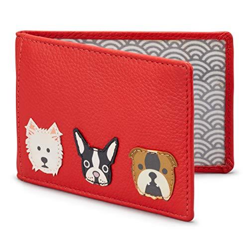 Cartera de perros Yoshi de piel para viaje , Red (rojo) - Y5318 DOG 54