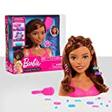 Barbie Fashionistas 8-Inch Styling Head, Brown Hair, 20-pieces