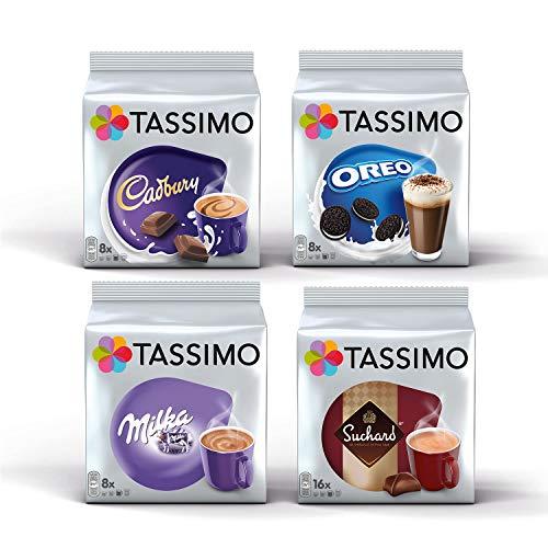 Tassimo Hot Choco Bundle Kapseln - Cadbury, Oreo, Milka, Suchard - 4 Packungen (40 Portionen)