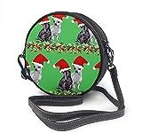 Bolso redondo mujer Round Crossbody Bag New Santa Christmas Handbag Purse Single Shoulder Bag Sling Bag