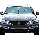 EcoNour Foldable 2-Piece Premium Car Windshield Sunshade | UV Protector Automotive Window Sunshades | Fit for Cars, SUVs, Vans,...