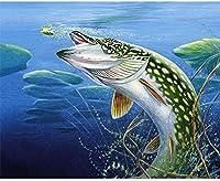 DIY 5Dダイヤモンドペインティングモザイクキット美しい魚の刺繍ラインストーンギフト壁の装飾