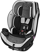 Evenflo EveryStage DLX All-in-One Car Seat, Infant Convertible & Booster Seat, Grows with Child Up to 120 lbs, Angled for Comfort and Safety, 3-Times-Tighter Installation, Highlands Green, Latitude