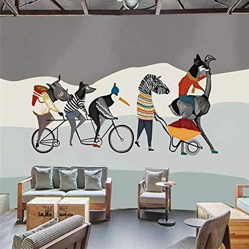 Preisvergleich Produktbild YShasaG Seidenwandbild Benutzerdefinierte Wandverkleidung handgemalte Kunst Wandbilder Tiergruppe Freunde Hintergrund Wand Tapeten Wandbilder Custo, 396cm*280cm