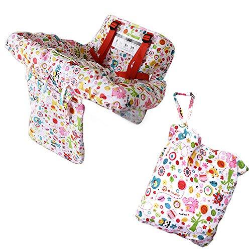 Morningtime Einkaufswagenschutz für Baby Kissen Hochstuhl Verstellbare Tragbare Kleinkinder Supermarkt Caddy Kissen Schutzstuhl Einkaufswagen Sitzkissen Abdeckung