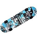 Skateboard - diseño - ABEC 7 Atlantic Rift - amortiguador de PU + PU de los rodamientos de ruedas de selección de colour azul