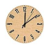 BTJC88 - Reloj de pared de madera con aspecto de grano de ma