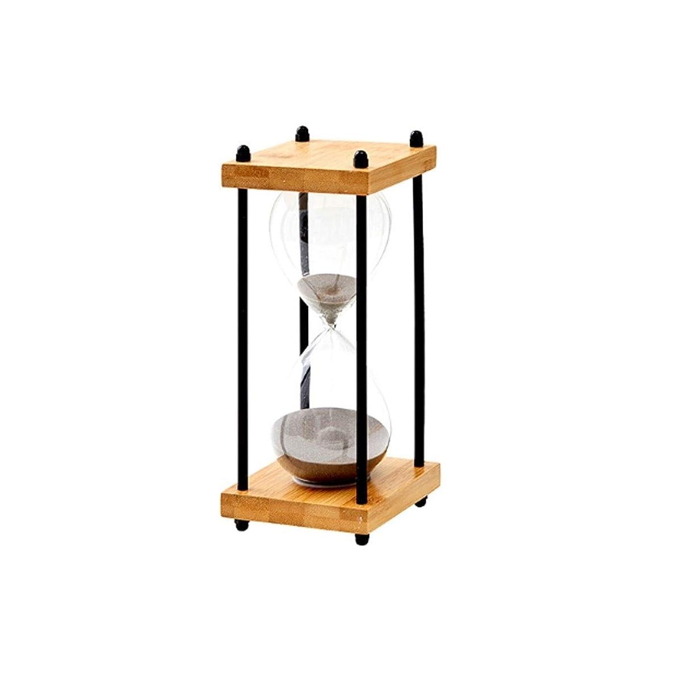 吸収決めます上院JIAYIZS ベッドルームの装飾Beautifuに適した 木材やガラス製の砂時計、長方形のデザイン、 (Color : Gray)