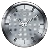 Citizen CC2008 Gallery Wall Clock, Silver-Tone