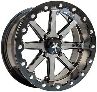 4/137 Motosport Alloys M21 Lok Beadlock Wheel 15x7 3.5 + 3.5 Machined/Black for Can-Am Maverick X3 X DS Turbo R 2017-2018