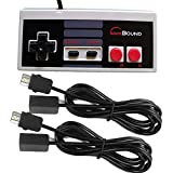 Nintendo NES Mini Classic Edition Controller + 2 Extension Cables 6 feet Combo by Gamebound