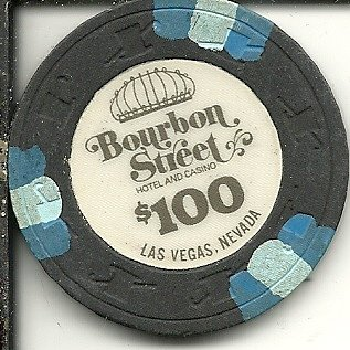 Affordable $100 Bourbon Street hotel and Casino chip , Las Vegas, Nevada vintage