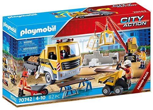 PLAYMOBIL City Action 70742 Baustelle mit Kipplaster, Ab 4 Jahren