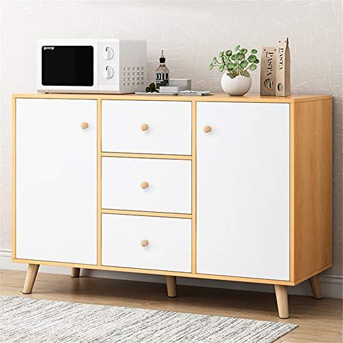 Cómoda Sideboard Buffet Servidor Aparador Gabinete de Almacenamiento de vajilla Organizador de Cocina Muebles de Comedor Sala Gabinete de Almacenamiento (Color : Wood, Size : 100x30x80cm)