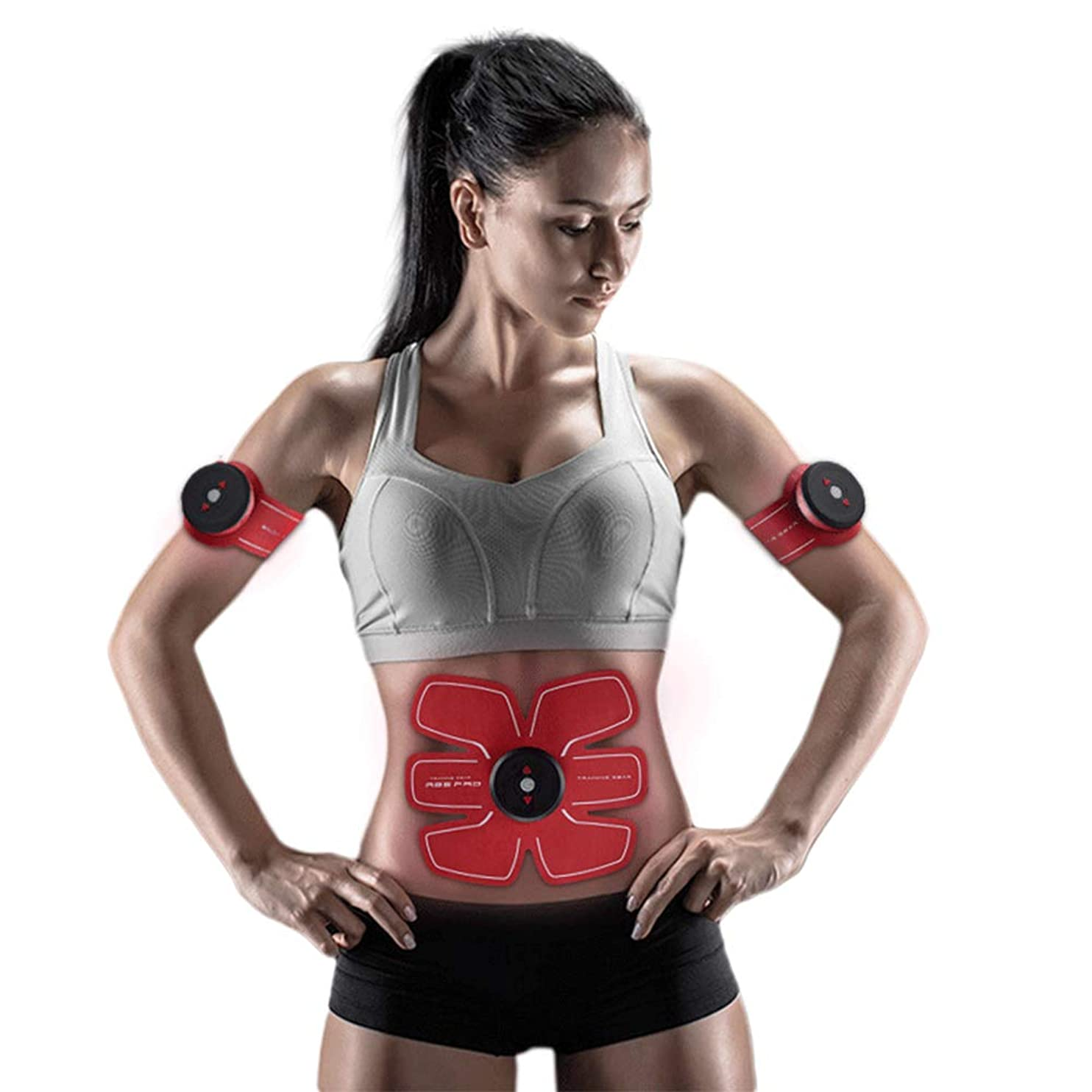 満了所属最大のスマートUSB充電腹部トレーナーEMS筋肉刺激装置リモコンワイヤレスベルト腹部体重減少マッサージスポーツフィットネス機器ユニセックス