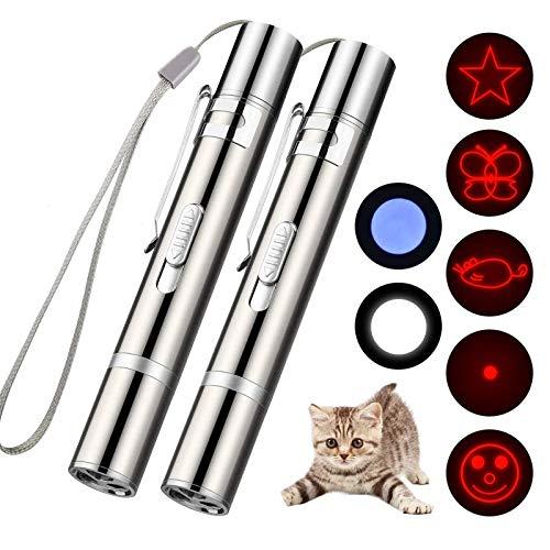 SLT Juguetes de Entrenamiento para Perros y Gatos, Juguetes para Gatos para Hacer Ejercicio, Juguete Interactivo de iluminación Tres en uno para Perros Gatitos (2PCS)