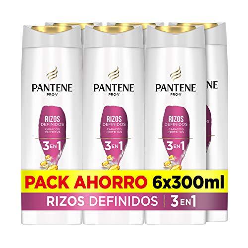 Pantene Pro-V Rizos Definidos Champú, Acondicionador Y Tratamiento 3En1, Para Rizos Brillantes Y Flexibles, 6 x 300ml
