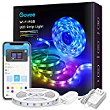Govee Smart WiFi LED Strip Lights Works with Alexa, Google Home Brighter 5050 LED, 16 Million Colors Phone App Controlled Music Light Strip for Home, Kitchen, TV, Party, for iOS and Android, 16.4ft