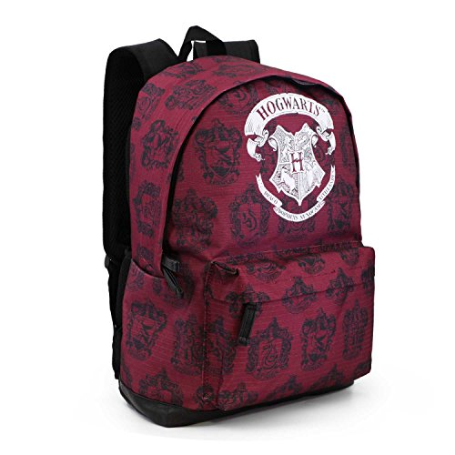 Karactermania Harry Potter Hogwarts-Freetime HS Backpack Rucksack, 43 cm, 27 liters, Rot (Red)