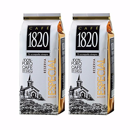 Cafe 1820 Reserva Especial - Costa Rica Gourmet Ground Premium Coffee - 12 oz (340 gr) 2 Pack
