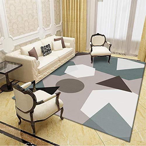 Rug carpet living room Easy to clean gray black geometric design soft carpet living room accessories hallway runner rug 120*170CM