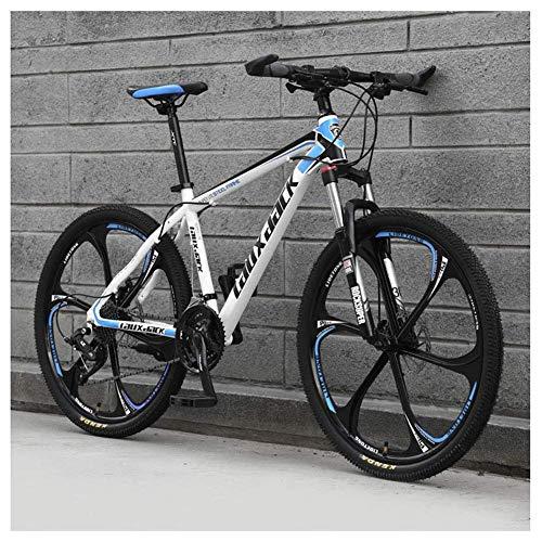 Chenbz Deportes al Aire Libre 27Speed Montaña Delantera de la Bici suspensión de la Bici de montaña con Frenos de Disco Doble Marco de Aluminio de 26', Azul