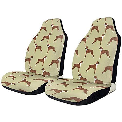 Fundas de asiento de coche Boxer perros elástico cubo asiento cubierta universal accesorios de asiento de coche,