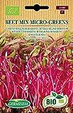 Germisem Orgánica Beet Mix Micro-Greens Semillas de Nabo Rojo 10 g