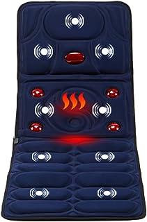 Masajeador Estera con Calor,5 Grandes infrarrojo Calentar Caliente amasadura Masaje,8 Vibración Motores Masaje Colchón Masajeador de Cuerpo Aliviar Cuello, Espalda, Cintura,Piernas Dolor