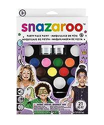 Ofertas Tienda de maquillaje: IDEAL PARA DISFRAZAR: 1 kit de maquillaje perfecto para  cumpleaños, dar el toque final a tus disfraces y fiestas de niños! Contiene 12 colores, 2 gel con purpurina, 3 pinceles, 4 esponjas. MÁS SEGURO PARA LA PIEL: conforme a los reglamentos UE y UU...